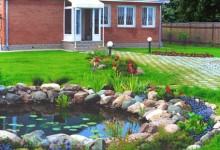 Ландшафтный дизайн для декоративного водоема
