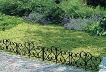 Ограждающие конструкции в саду