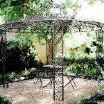 Ковка для сада — беседки, качели, мебель