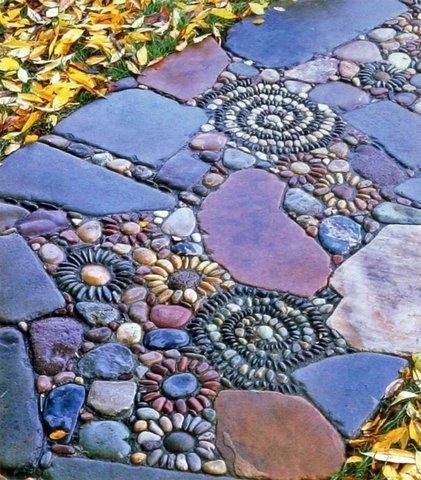 Дорожки на даче из камня своими руками