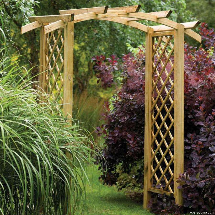 Перголы и арки из дерева для дачи своими руками фото для начинающих 27