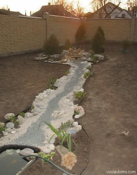 Сухие ручьи, примеры Возле Дома