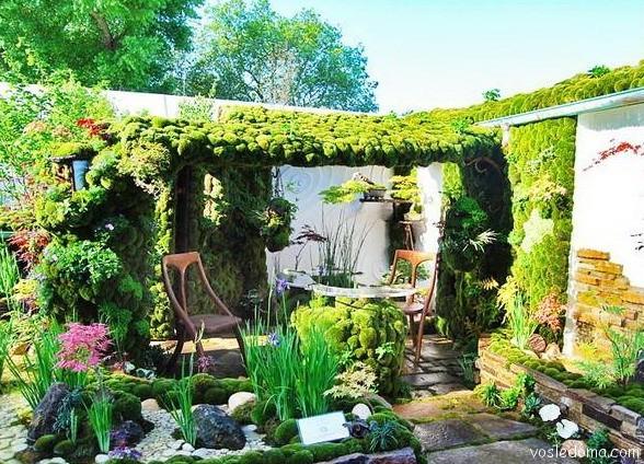 Фото зеленый уголок на даче своими руками 27
