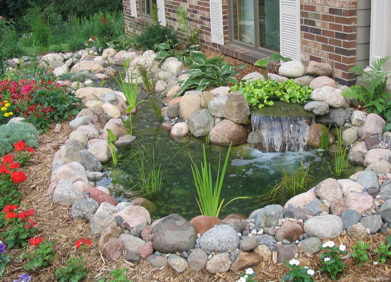 Мини пруд в саду своими руками