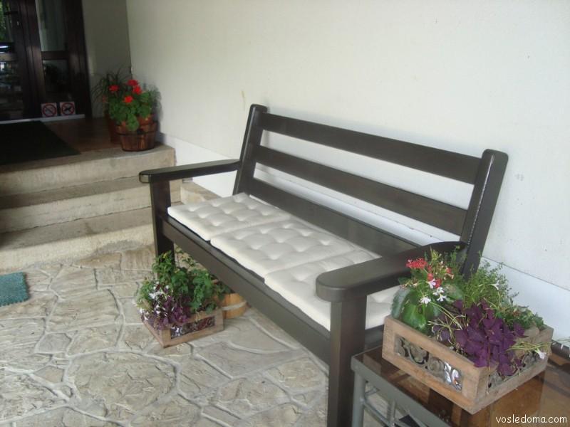 Скамейка с подушками своими руками - Extride.ru