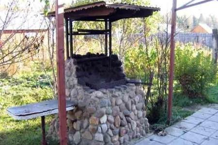 место под мангал в саду