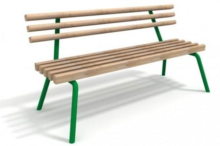 скамья деревянная с металлическими ножками
