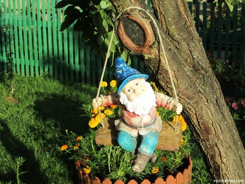 Гномик для сада своими рукам