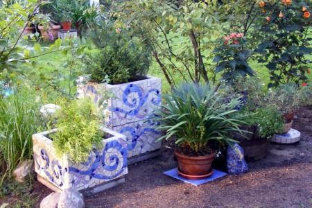 Мозаика в саду