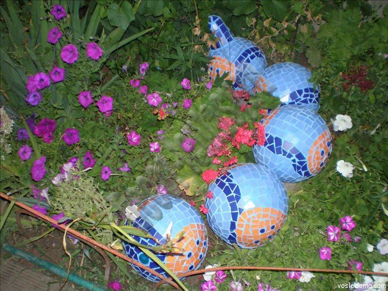Дачная мозаика в саду своими руками 65