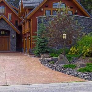 055-stamped-driveway-rock-garden
