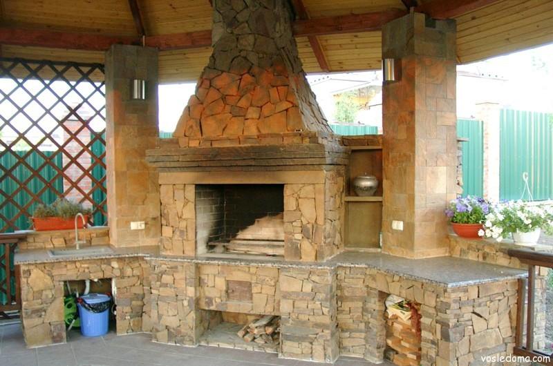 фото дому пристроенные камины к
