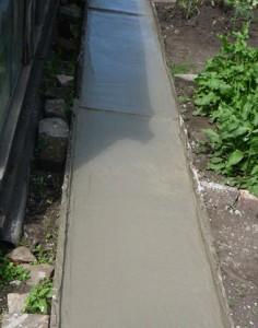 процесс застывания бетона в опалубках