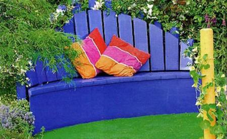 Садовая скамейка из остатков штакетника