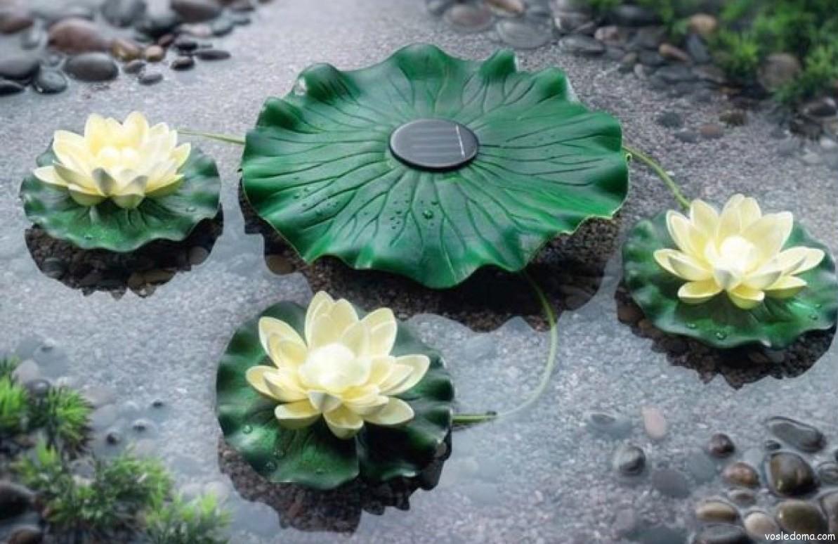 Как сделать лилию в пруд своими руками