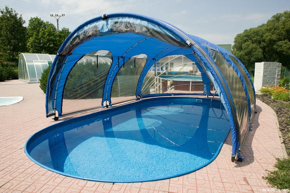 Крыша для бассейна на даче фото