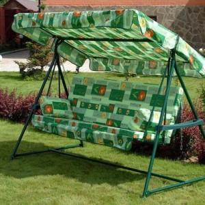 Металлические садовые качели