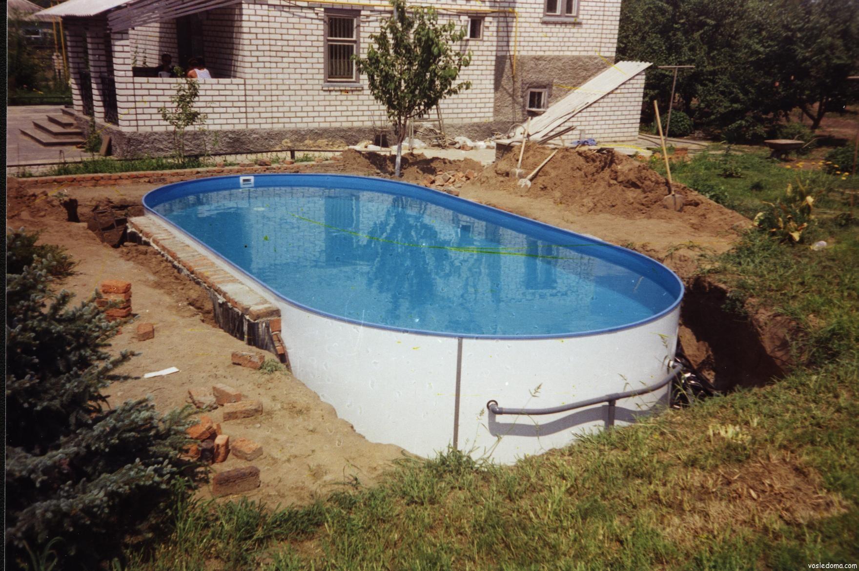 Бассейны для дачи своими руками недорого