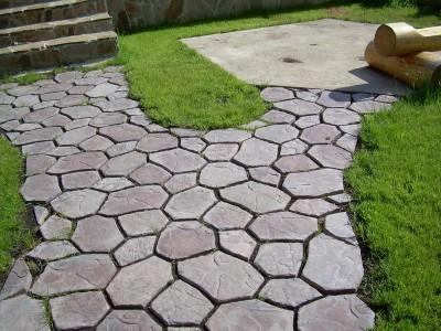 пример пятигранной тротуарной плитки