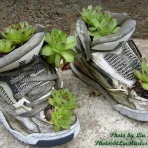 вазон из ботинка