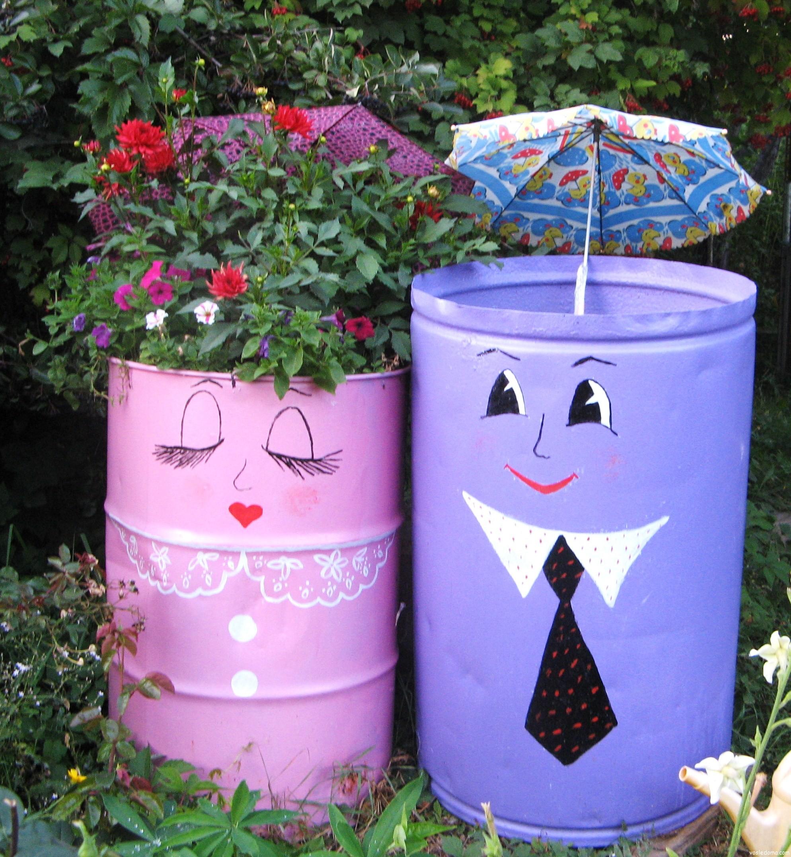 Как украсить свой сад своими руками фото