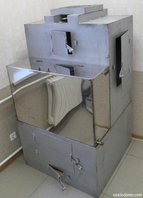 Металлическая печь банная своими руками 200