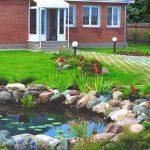 Ландшафтный дизайн возле дома. Создаём декоративный водоём