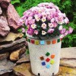Контейнер для цветов из камня своими руками