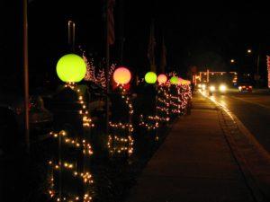 уличные шары светильники