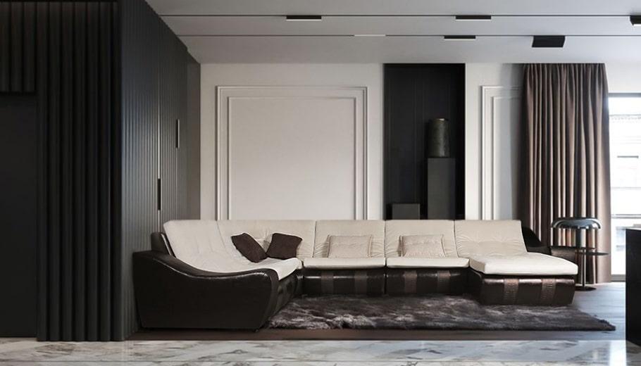 Лаунж в интерьере и мягкая мебель для него