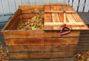 деревянный ящик для компостной ямы
